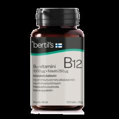 Bertils vitam.B12 1000 mikrog+Folaatti 100 kpl
