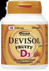 DEVISOL FRUITY 10 MIKROG IMESKELYTABLETTI 200 kpl