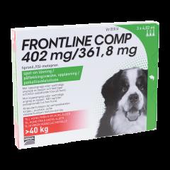 FRONTLINE COMP 402/361,8 mg vet paikallisvaleluliuos (koirille)3x4,02 ml