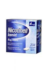 NICOTINELL ICEMINT 4 mg lääkepurukumi 204 fol