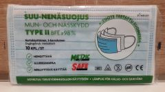 Suu-nenäsuojus Type II kertakäyttöinen 10 kpl