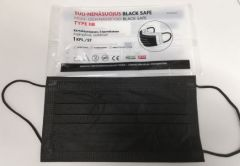 Yksittäispakattu Black Safe -maski 1 kpl.