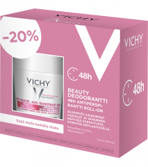 VICHY DEODUO BEAUTY ANTIPERSPIRANTTI 48H  ROLL-ON 50ML+50ML