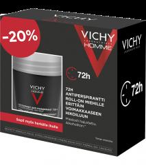 VICHY DEODUO HOMME 72H ROLL-ON 50ML+50ML
