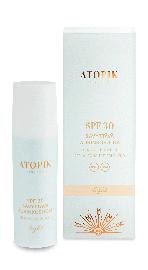 Atopik SPF 30 light UVA ja UVB sävyttävä aurinkosuoja herkälle iholle.