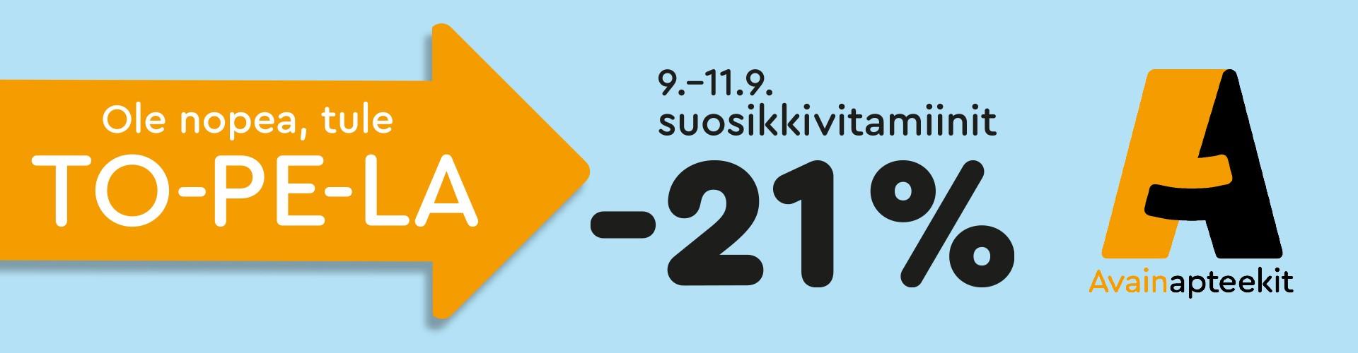 Suosikkivitamiinit -21%