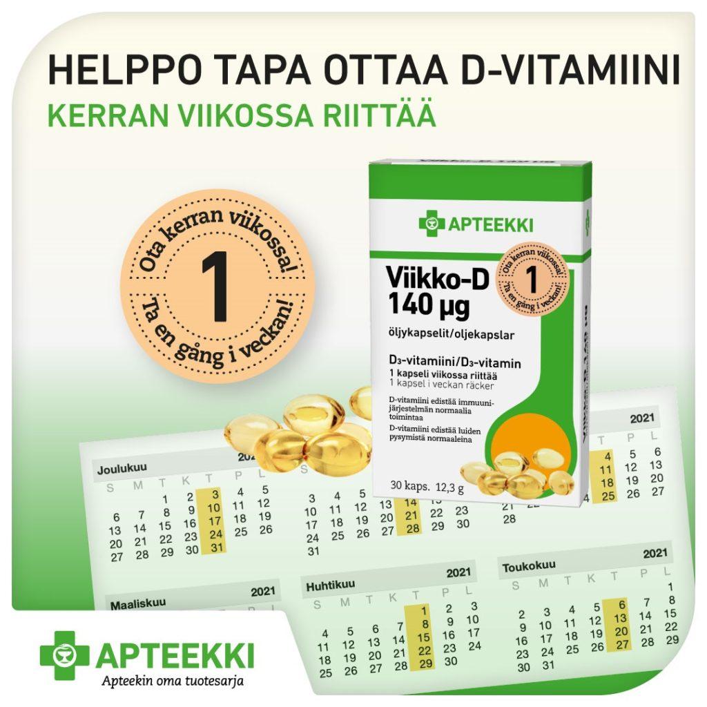 Apteekki Viikko-D d-vitamiini