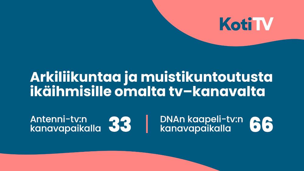 KotiTv - uusi TV-kanava ikäihmisille