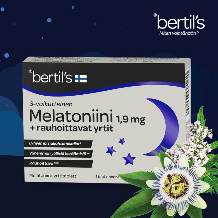 Bertils melatoniini-valeriaana-kärsimyskukka