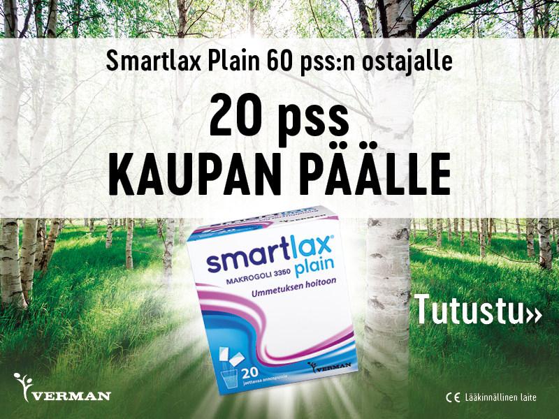Heinäkuussa 2021 Smartlax 20 pussia kaupan päälle