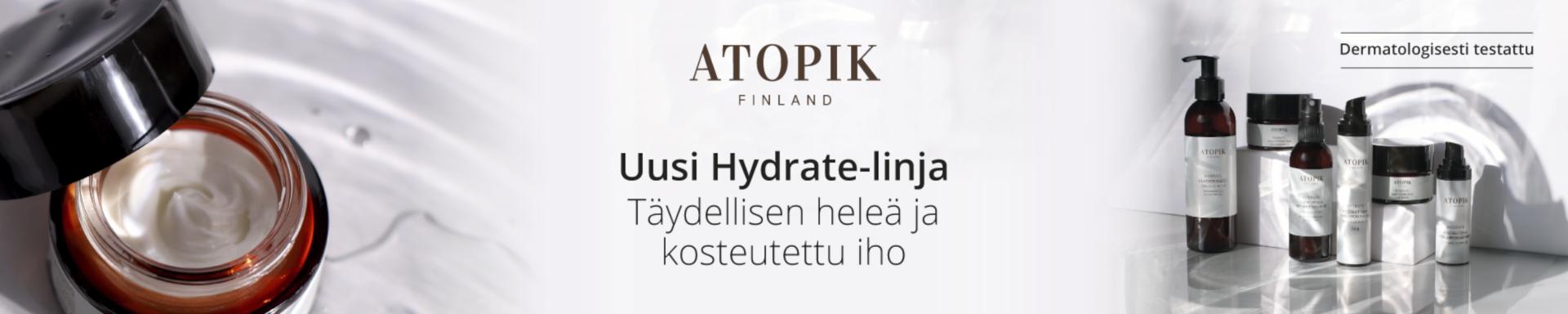 Atopik Hydrate - suomalainen kosteuttava ihonhoitosarja