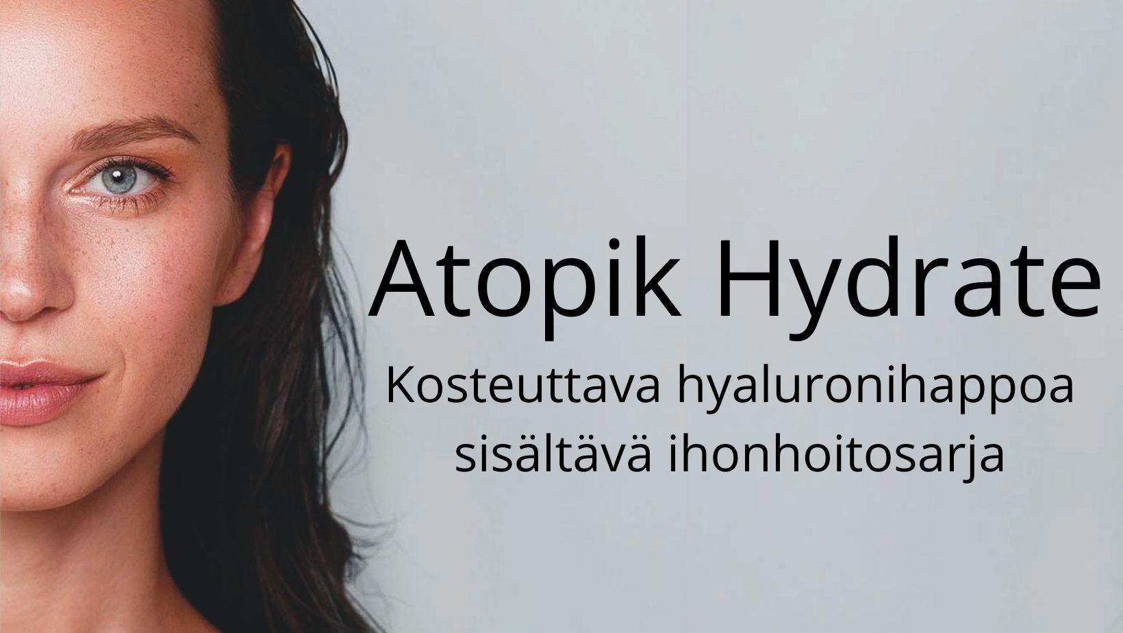 Atopik Hydrate, hyaluronihappoa sisältävä ihonhoitosarja