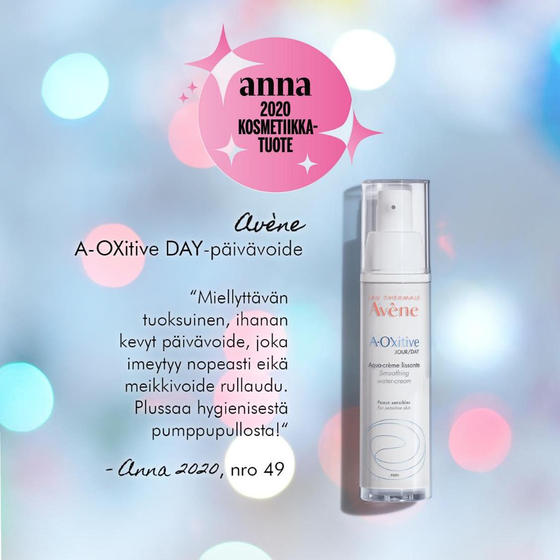 Anna-lehden vuoden 2020 kosmetiikkatuote Avene A-Oxitive