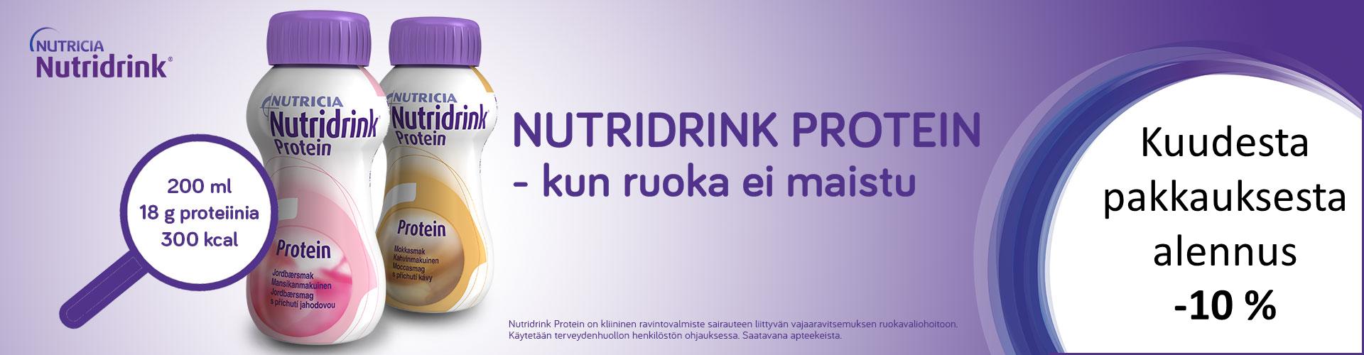 Nutridrink Protein kuusi pakkausta -10 %